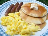 Image result for Scrambled Eggs Sausage and Pancakes